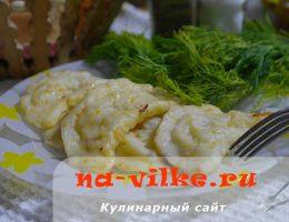 Варим вкусные вареники с начинкой из рубленной сырой картошки