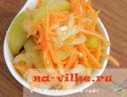 Корейский салат из зеленых помидор