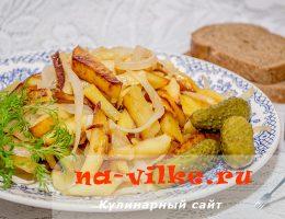 Хрустящая и румяная жареная картошка домашнего приготовления